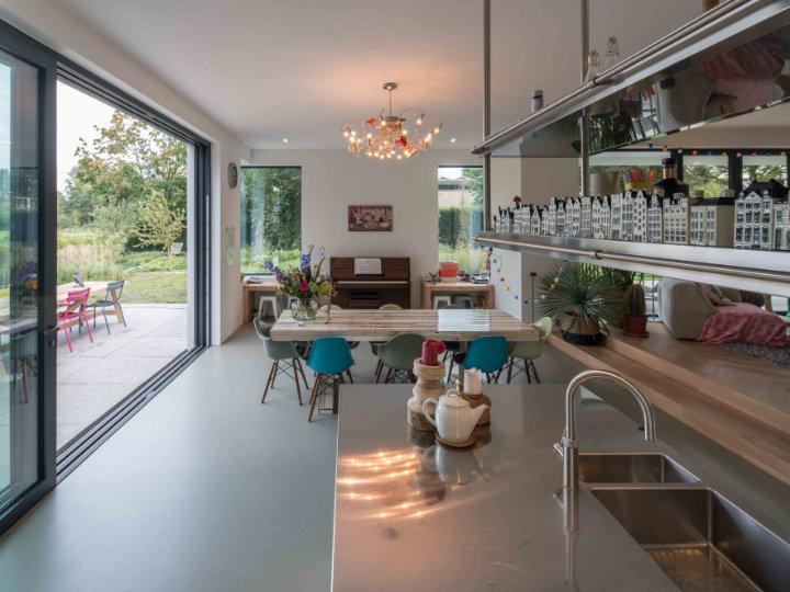 Arclinea Italia keuken in villa te Bunnik, foto: Ossip van Duivenbode